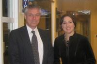 Rebecca with Craig M. Liddell